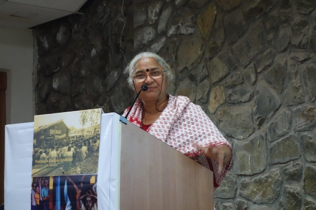The public lecture by Medha Patkar, the Right Livelihood Laurate. Photo by Prof. Eric Clark, LUCSUS