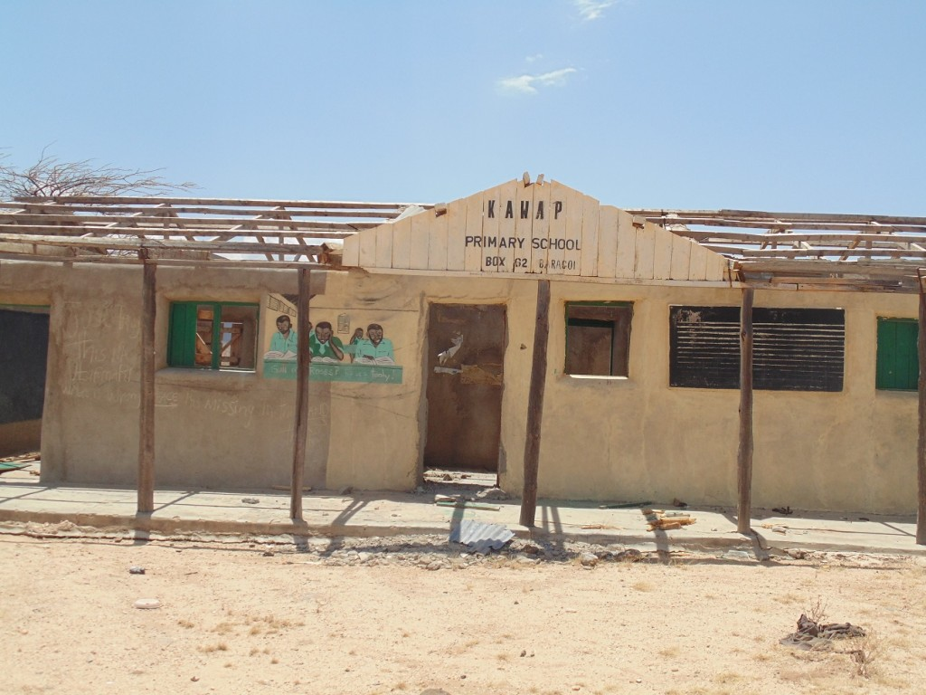 Kawap Primary School, vandalized and abandoned due to raids between the Turkana and Samburu warriors