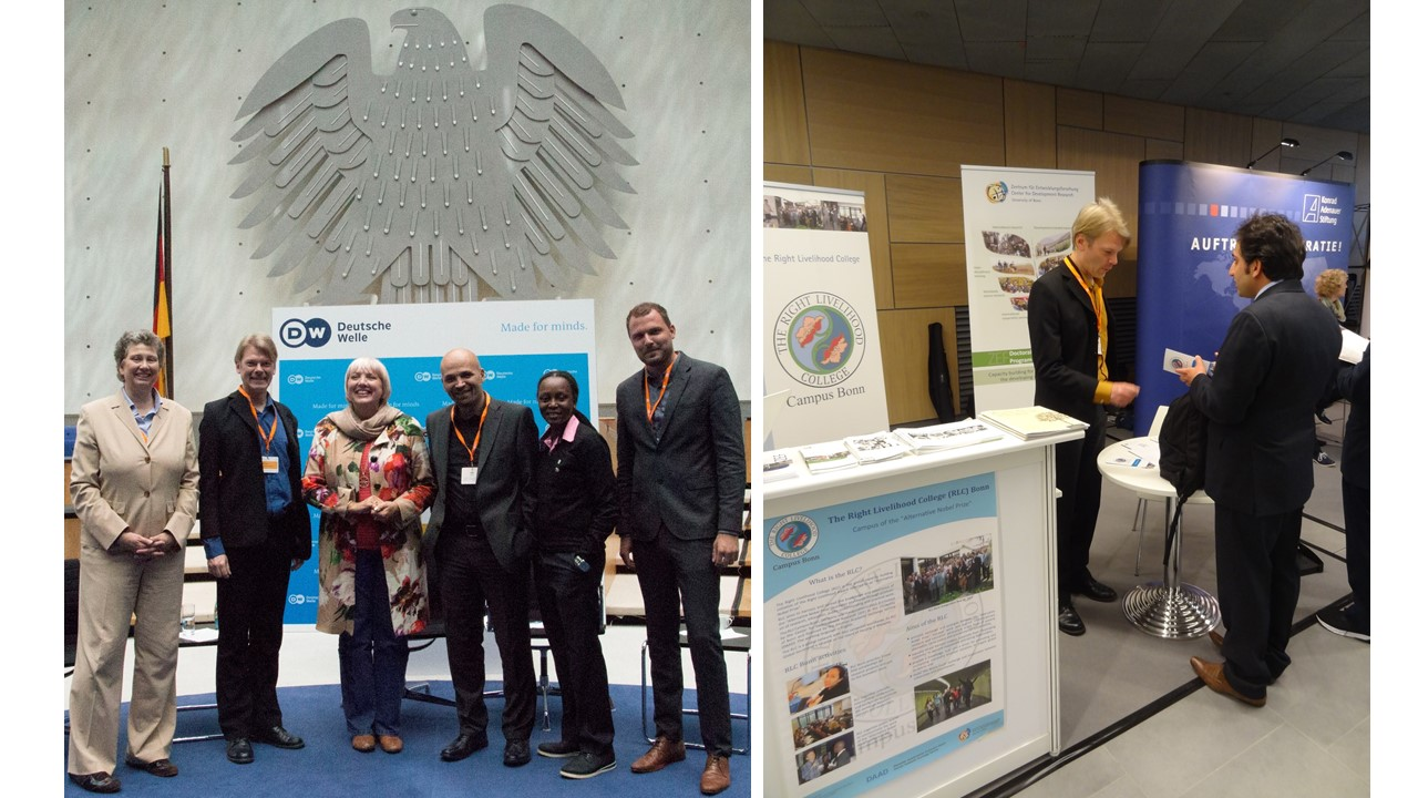 Laureate Kasha Nabagesera spoke at the Global Media Forum in Bonn