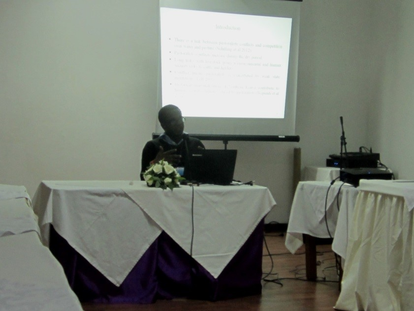 RLC PhD student Willis Okumu presented paper at conference in Morocco