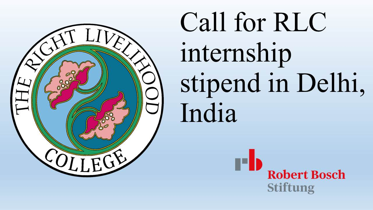 EXTENDED DEADLINE: Call for Internship in India