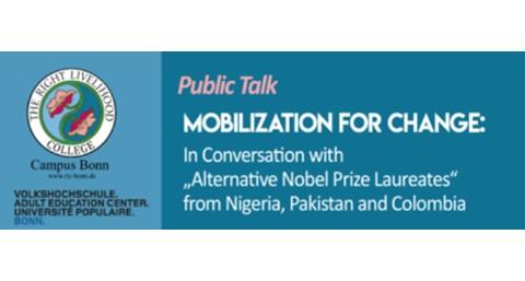 Public Talk with Nnimmo Bassey, Hina Jilani & Martín von Hildebrand