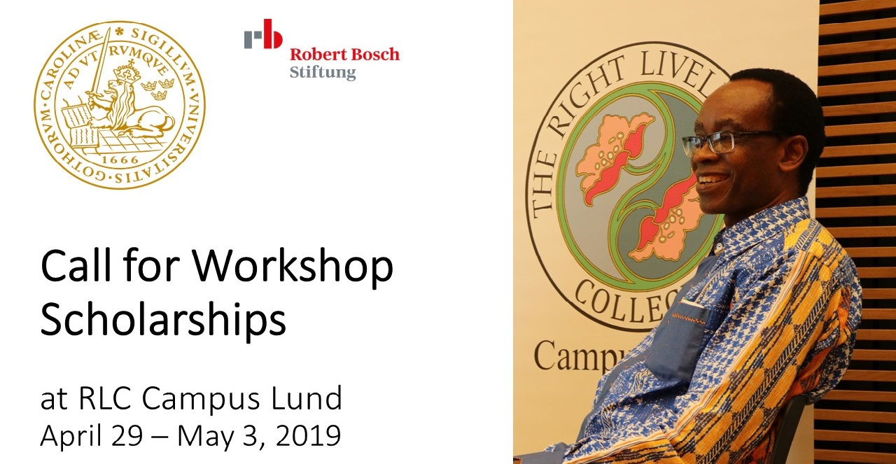 Scholarships for RLC Workshop in Lund with Nnimmo Bassey
