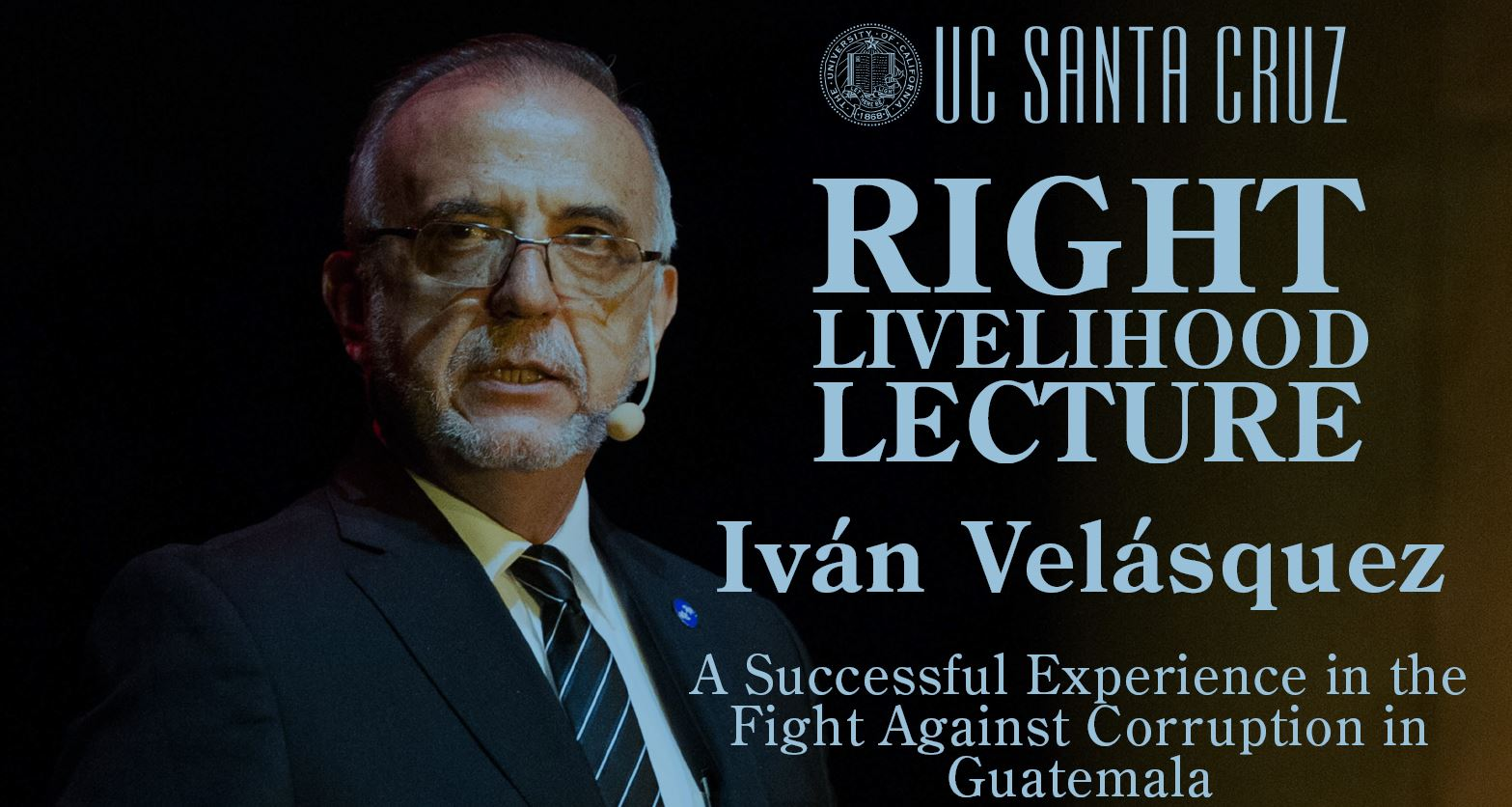 Laureate Iván Velásquez speaks online at RLC Santa Cruz
