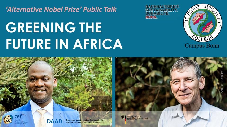 RLC Public Talk with Laureates Tony Rinaudo and Wycliffe Matika in Bonn