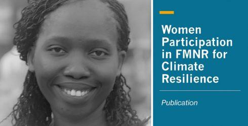 RLC Bonn: New PhD student Irene Ojuok writes chapter on women's participation in FMNR
