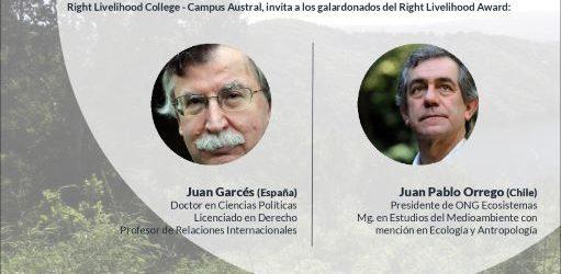 RLC Valdívia: 7th Dialogue at Human Scale with RLA Laureates Juan Pablo Orrego and Juan Garcés