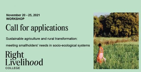 """Call for applications: Workshop on """"sustainable agriculture and rural transformation"""" in Bonn, Germany"""